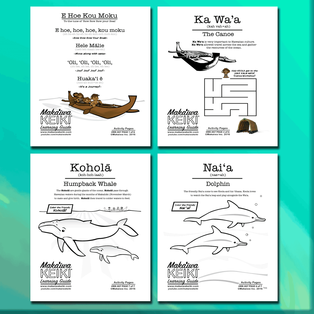 "FREE Printable Learning Guide for ""A Hawaiian Nursery Rhyme"""
