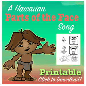 "Learn the Hawaiian Language the fun way with Makaʻiwa Keiki!! Free Printable featuring ""Parts-of-the-Face"" in ʻŌlelo Hawaiʻi"