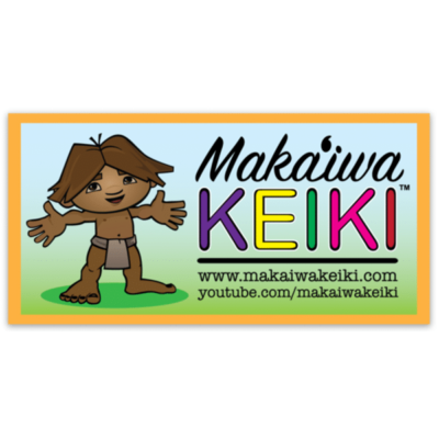 Makaʻiwa Keiki 4ʻ sticker - Learn basic Hawaiian Language the fun way!!